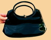 1950s Crown Lewis Black Patent Leather