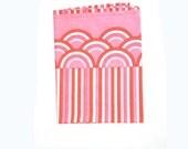 80s Vera Flat Sheet Twin Stripes Pink Watermelon stripes