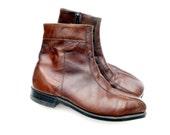 "Ansi Vintage Boots Mens 9 1/2 D Leather Ankle Boot ""Mod Squad"""