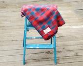 Vintage Blanket Lovely Jewel Tones Modacrylic Western Germany