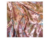 60s Vintage Chinese Silk Tapestry Satin Brocade Fabric