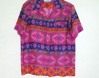60s Hawaiian Shirt Penneys Hawaiian Shirt Medium Unisex
