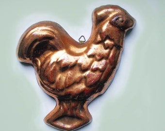 Rustic Rooster Vintage Copper Mold Farmhouse Vintage Kitchen Decor