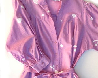 Casual Comfort 80s Willi California Shirt Dress size Large Medium