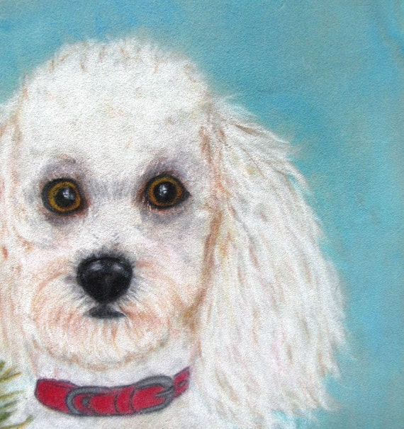 Blondie Vintage Poodle Art on Velvet