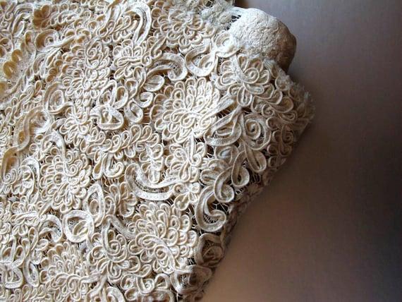 Vintage Bridal Lace Fabric Yardage