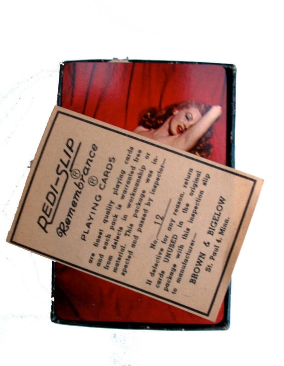 1950s Marilyn Monroe Pin-up Mature Nude Pose Redislip Remembrance Playing Cards Near Mint dtteam