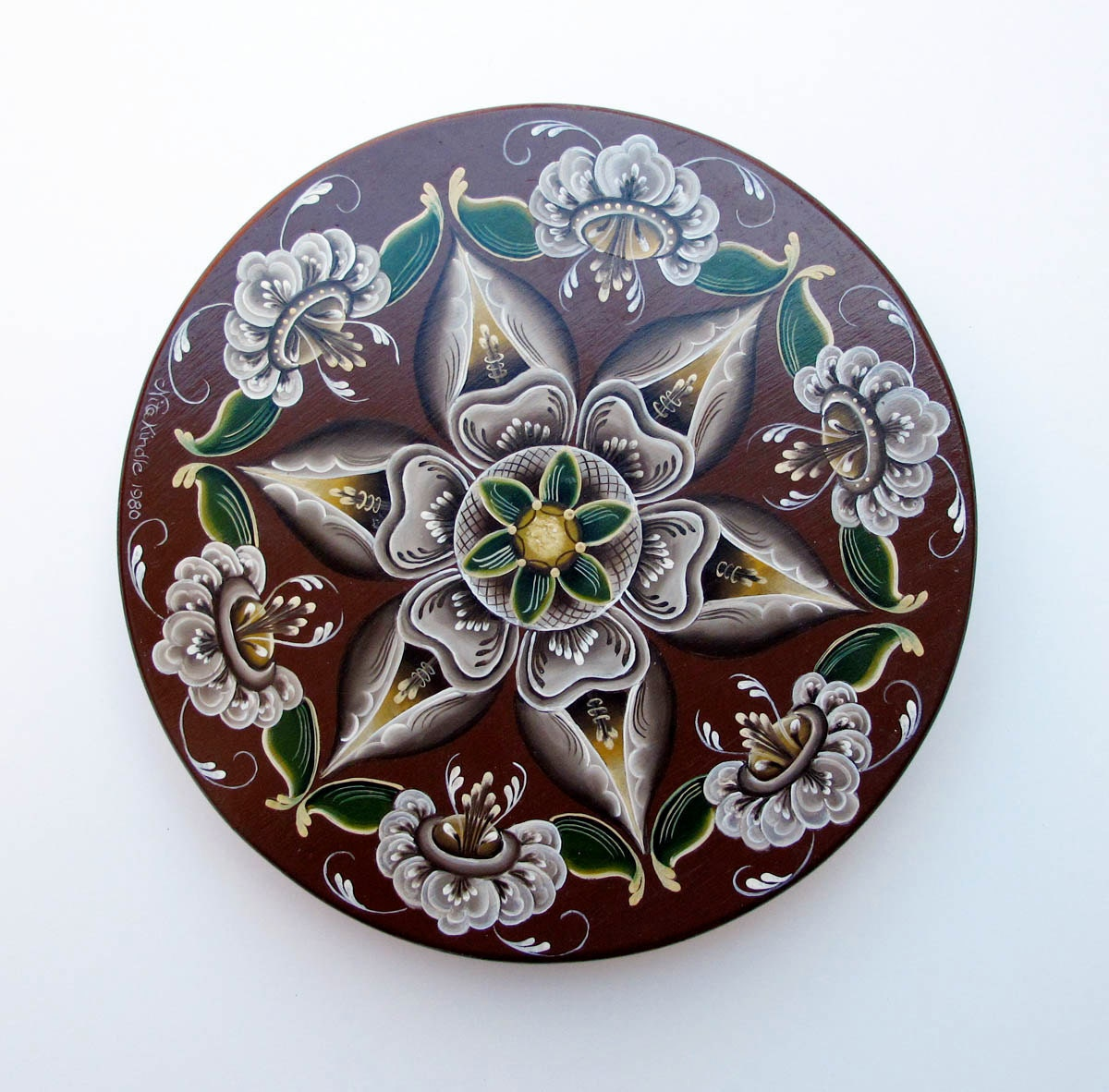 Norwegian Rosemaling Painted Wood Box A Vintage Treasure