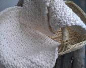 Two Organic Cotton, Hand Crocheted Washcloths