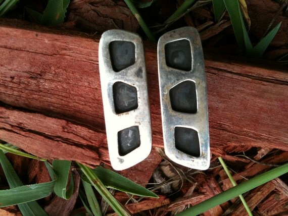 Reserved for CHARLES-MODERNIST Cuff LINKS Silver
