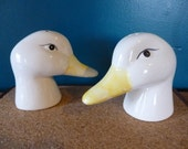 Treasury Item - Vintage Large Goose Head Salt and Pepper Shakers