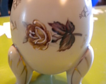 CLEARANCE Vintage Porcelain Egg Shaped Vase, Autumn Floral