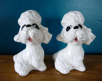 Vintage French Poodle Salt and Pepper Shakers