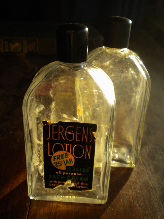 Vintage Jergens Lotion Two Vintage Jergens Lotion