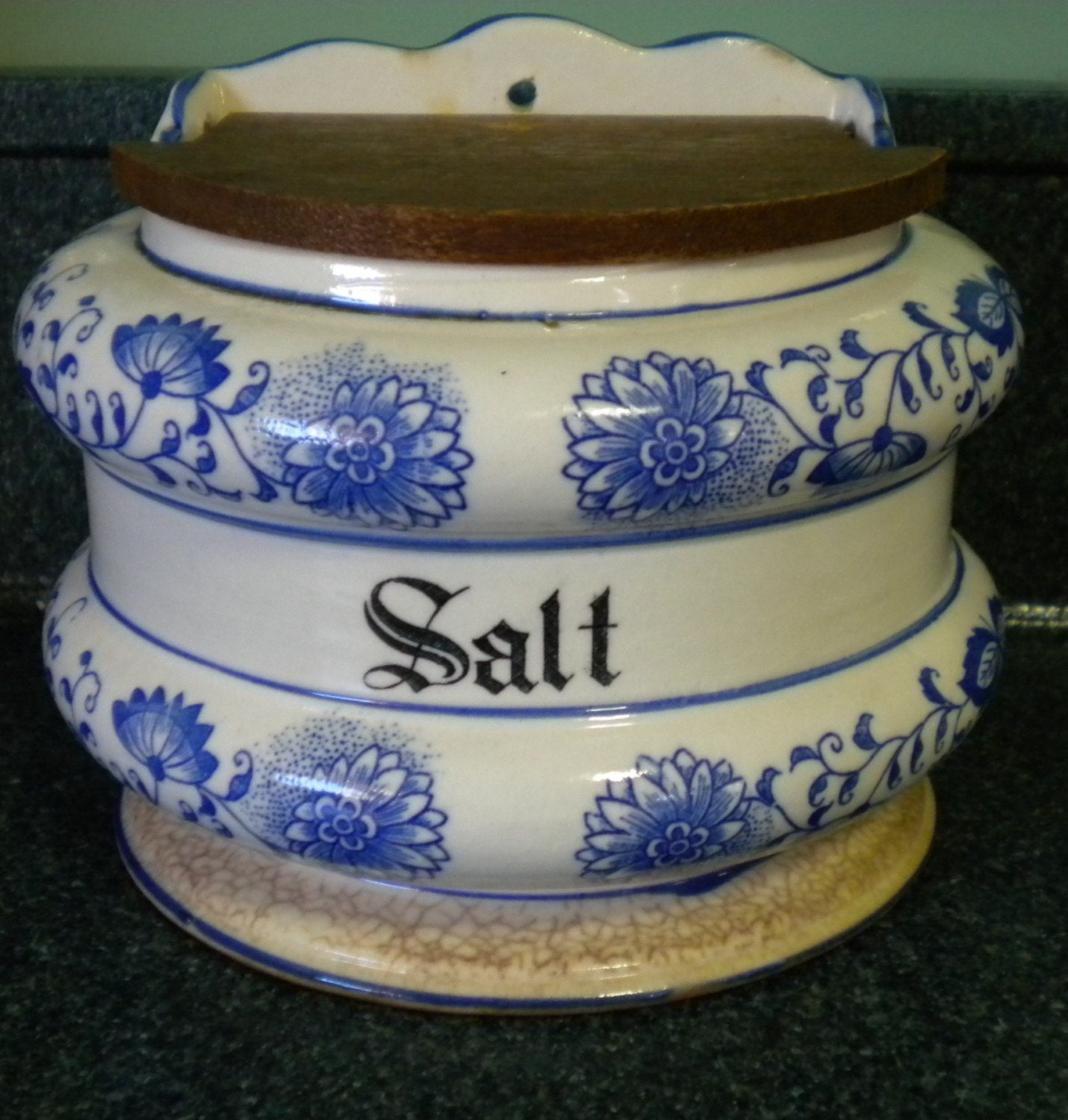 Clearance 30 Off Antique Blue Onion Salt By