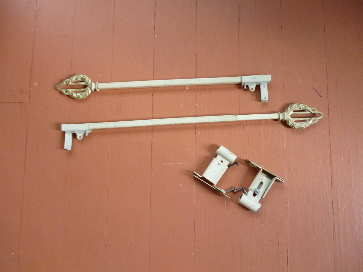 antique kirsch victorian swing arm curtain rods 1 pair