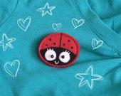 Brooch or magnet -Wemba the Ladybug-