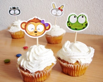 Cupcake Toppers - Lovelia Friends-