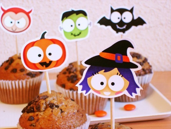 Cupcake toppers - Trick or treat-