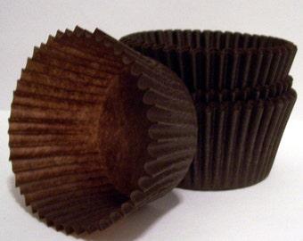 100 Brown Cupcake Liners