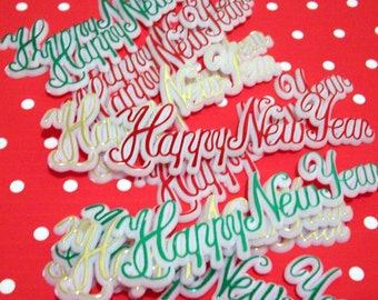 9 Happy New Year Script Cake Toppers