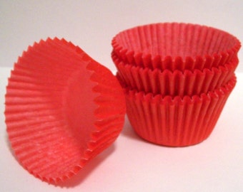 Red Cupcake Liners- Choose Set of 50 or 100