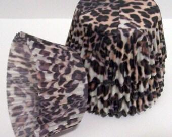 Cheetah Print Cupcake Liners- Choose Set of 50 or 100