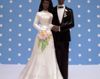 Modern Vintage AA Bride and Groom  Cake Topper DIY