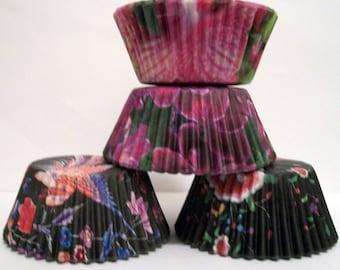 60 Floral Print Cupcake Liner Assortment