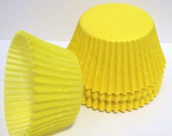 Yellow Cupcake Liners- Choose Set of 50 or 100