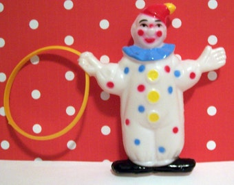 Three Retro Clown with Loop Cake Toppers