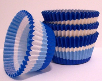 Blue Swirl Cupcake Liners- Choose Set of 50 or 100