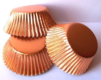 Copper Foil Cupcake Liners Standard Size- Choose Set of 50 or 100