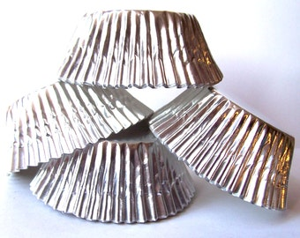 Silver Foil Cupcake Liners- Choose Set of 50 or 100