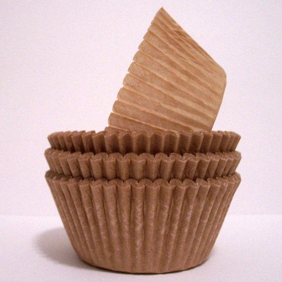 Eco Liners-Unbleached Natural Brown Baking Cups- Choose Set of 50 or 100