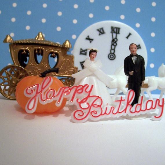 Cinderella Happy Birthday Cake Topper Kit