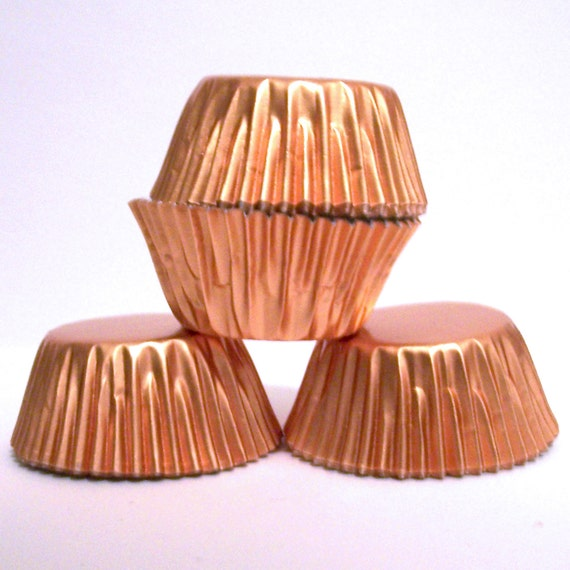 Mini Copper Foil Baking Cups- Candy Liners- Choose Set of 50 or 100