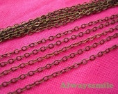 10Metre 2MM Antique Bronze Plated Brass Twisted Cross Link Chains RE20004
