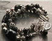 Sterling Silver and Black Onyx Midnight Sonata Bracelet