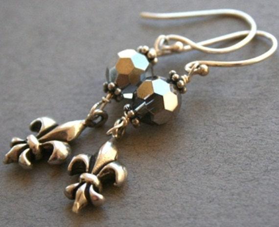 Sterling Fleur de Lis Earrings
