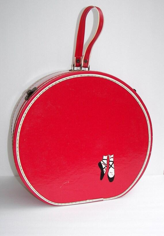 Vintage Dance Case Red Ballet Case Suitcase 1950 S