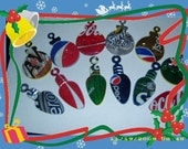 recycled pop can ornament pins set 1
