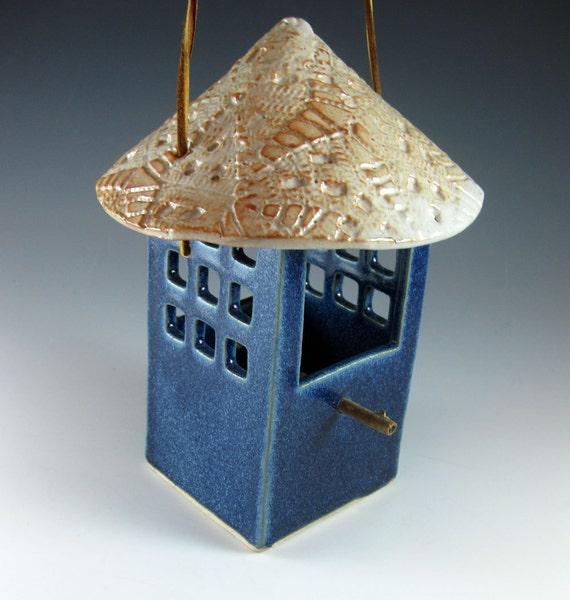 Ceramic Bird Feeder /  Cornflower Blue / 981