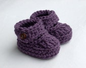 Baby Booties, Crochet Baby Strappy Booties, Baby Mary Janes