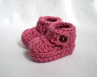 17 Colors Available, Baby Strappy Booties, Baby Crochet Mary Janes