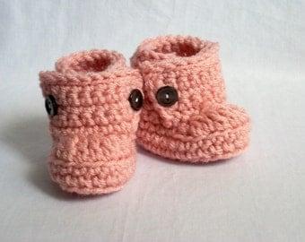 Baby Booties, Baby Ugg Boots, Baby Boots, Crochet Baby Booties