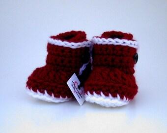 Christmas Baby Boots, Christmas Ugg Style Boots, Ugg Boots, Baby Booties, Baby Shoes