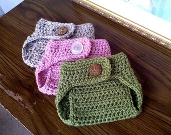 ON SALE, Baby Diaper Cover, Photography Prop, Crochet Diaper Cover