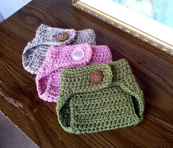 Baby Diaper Cover, Photography Prop, Crochet Diaper Cover