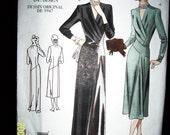 Vogue 2354 Vintage 1947 Reproduction of an Original 40s Design Dress Evening Gown Patten Misses Size 10 Out of Print
